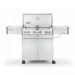 Barbecue gaz Weber Summit S-470 GBS Inox 4 brûleurs + 1 latéral + 1 arrière
