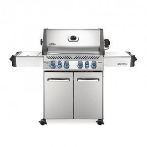 Barbecue gaz Napoléon Prestige 500 infrarouge Inox 4 brûleurs + 1 latéral + 1 arrière