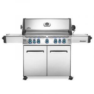 Barbecue gaz Napoléon Prestige 665 infrarouge Inox 5 brûleurs + 1 latéral + 1 arrière