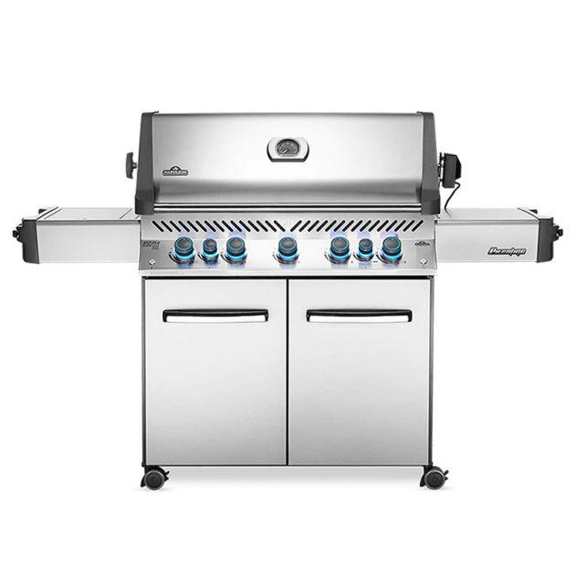 Barbecue gaz Napoléon Prestige 665 infrarouge Inox 5 brûleurs + 1 latéral + 1 rôtissoire