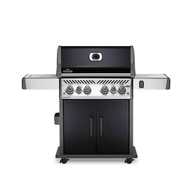 Barbecue gaz Napoléon Rogue SE525 Noir 4 brûleurs + 1 latéral + 1 rôtissoire