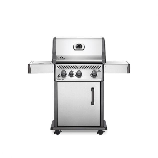 Barbecue gaz Napoléon Rogue XT425 Inox 3 brûleurs + 1 latéral