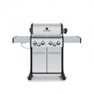 Barbecue gaz Broil King Baron S490IR Inox 4 brûleurs + 1 latéral + 1 arrière