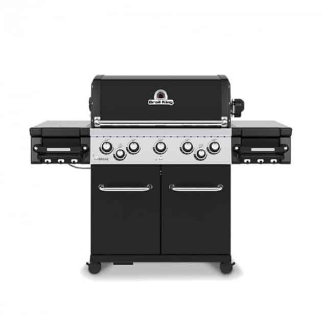 Barbecue gaz Broil King Regal 590 Noir 5 brûleurs + 1 latéral + 1 rôtissoire
