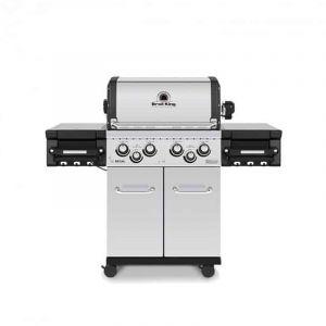 Barbecue gaz Broil King Regal S490 Pro Inox 4 brûleurs + 1 latéral + 1 arrière
