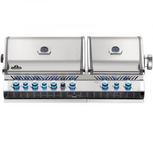 Barbecue gaz encastrable Napoléon Prestige Pro 825 RBI Inox 6 brûleurs + 2 rôtissoires