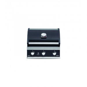 Barbecue gaz à poser ou encastrable Grandhall Premium GT3 Noir 3 brûleurs