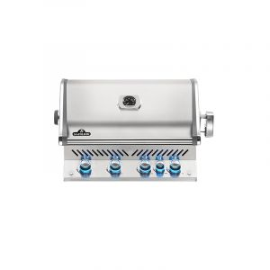 Barbecue gaz encastrable Napoléon Prestige Pro 500 Inox 4 brûleurs + 1 rôtissoire