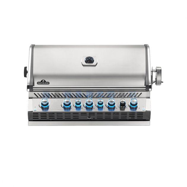 Barbecue gaz encastrable Napoléon Prestige Pro 665 RB Inox 5 brûleurs + 1 rôtissoire