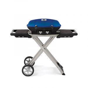 Barbecue gaz Napoléon Travel Q sur chariot pliable Bleu
