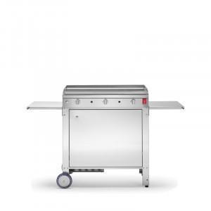 Pack Promo plancha gaz inox Planet Chef 80 lisse 3 brûleurs 78 x 40