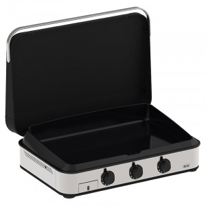 Pack Promo plancha gaz Enosign 80 inox/noir