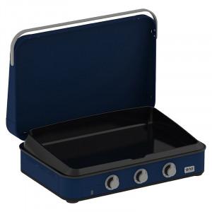 Pack Promo plancha gaz avec capot ENO Enosign 80 blue navy