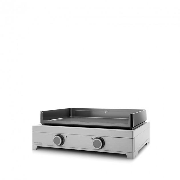 Plancha électrique fonte émaillée Forge Adour Modern 60 inox 2 feux 58.5x40.2