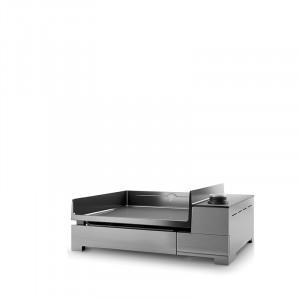 Plancha électrique fonte émaillée Forge Adour Premium 45 inox 1 feu 53,5X40,5