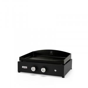 Plancha gaz fonte émaillée Le Marquier Vintage Pure 260 acier noir 2 brûleurs 60 x 40