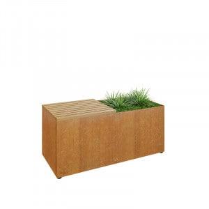 Banc Ofyr Herb Garden corten