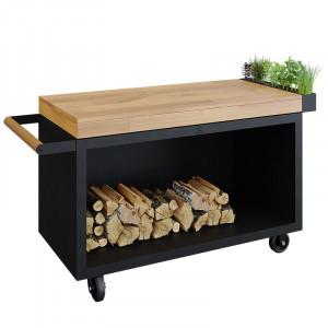 Table Ofyr Pro 135 Black bois de teck