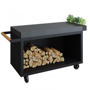 Table Ofyr Pro 135 Black céramique gris anthracite