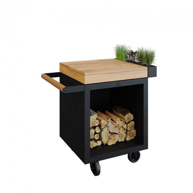 Table Pro 65 Black Ofyr Bois de teck