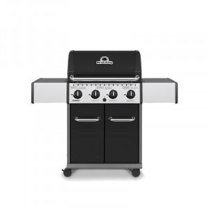 Barbecue gaz Broil King Crown 420 Inox et Noir 4 brûleurs
