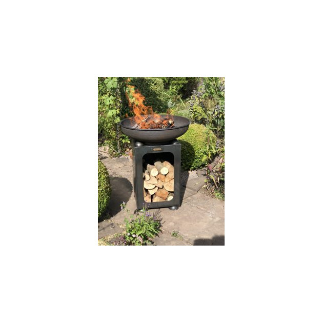 Braséro sur range bois Firepit Planter 70