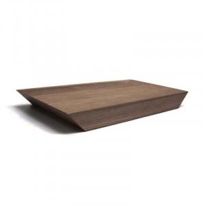 Planche plateau épais Raumgestalt en bois de chêne foncé 21 x 37.5cm