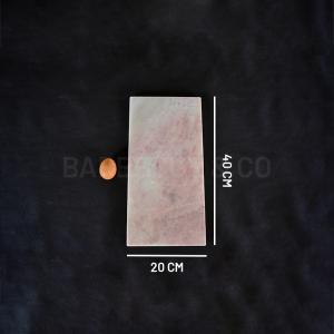 Planche de présentation en marbre rose 20 x 40 cm