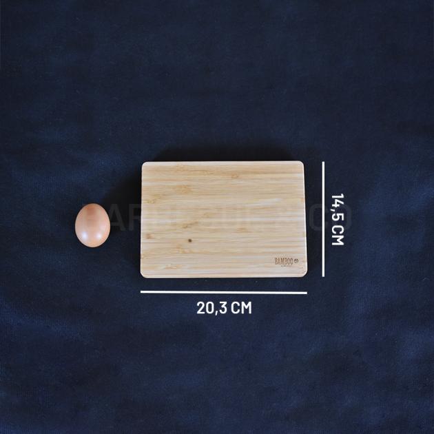Planche à découper en bambou 20,3 x 14,5 cm