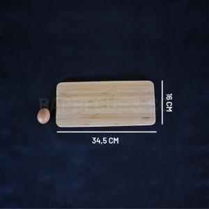 Planche à découper en bambou 34,5 x 16 cm