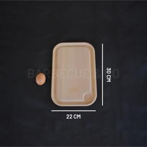 Planche à découper en hêtre avec rigole 30 x 22 cm