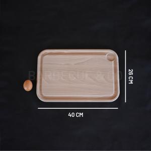 Planche à découper en hêtre avec rigole 40 x 26 cm