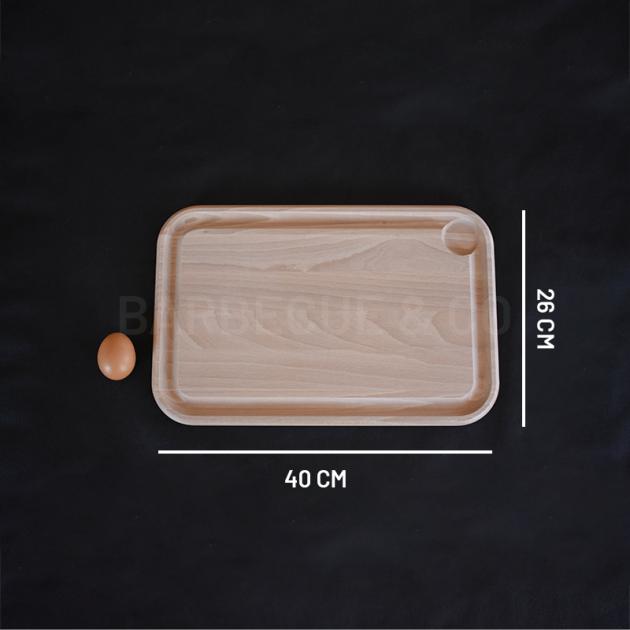 Planche à découper Berard en hêtre avec rigole et godet 40 x 26 cm