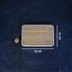 Planche à découper avec rigole en bambou 35 x 24 cm