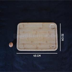 Planche à découper avec rigole en bambou 45 x 32 cm