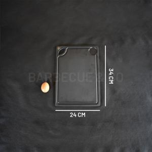 Planche à découper avec rigole en fibre d'ardoise 34 x 24 cm