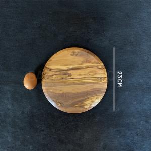 Planche à découper en olivier ronde 23 cm