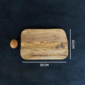 Planche à découper en olivier 30 x 20 cm