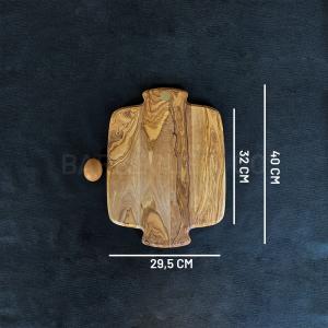 Planche à découper en olivier 40 x 29,5 cm