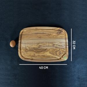 Planche à découper en olivier 40 x 32 cm