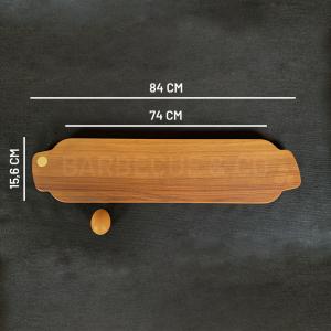 Planche à découper en noyer 84 x 15,6 cm