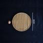 Planche à découper ronde avec rigole en bambou 33 cm