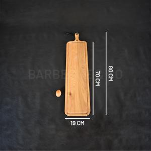 Planche à découper avec rigole en chêne massif 19 x 70 cm