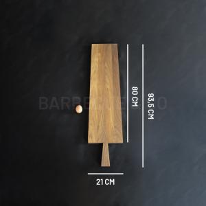 Planche à découper en chêne foncé 80 x 21 cm