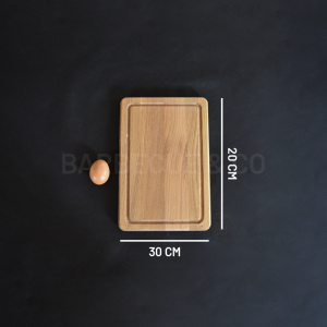 Planche à découper avec rigole en chêne 30 x 20 cm