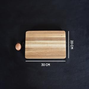 Billot épais en chêne 30 x 20 cm