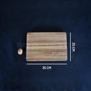 Billot épais en chêne 35 x 25 cm
