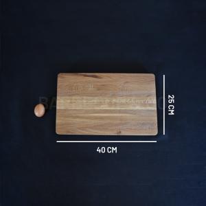 Billot épais en chêne 40 x 25 cm