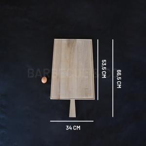 Planche à découper avec rigole en chêne 53.5 x 34 cm