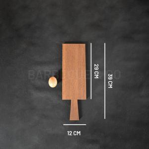 Planche à découper en chêne foncé 29x12cm